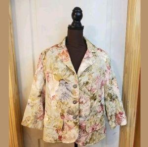 Floral blazer size 16 lane bryant